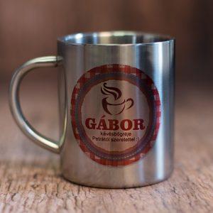 Egyedi fém kávésbögre